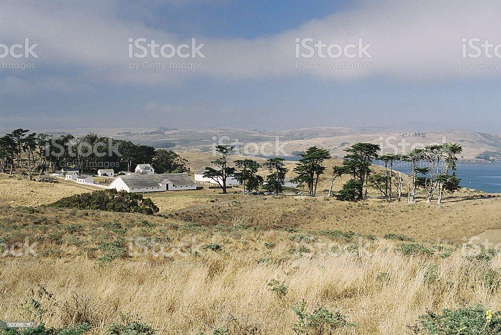 California coastal farm royalty-free stock photo