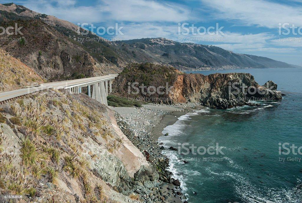 California Coastal Road stock photo