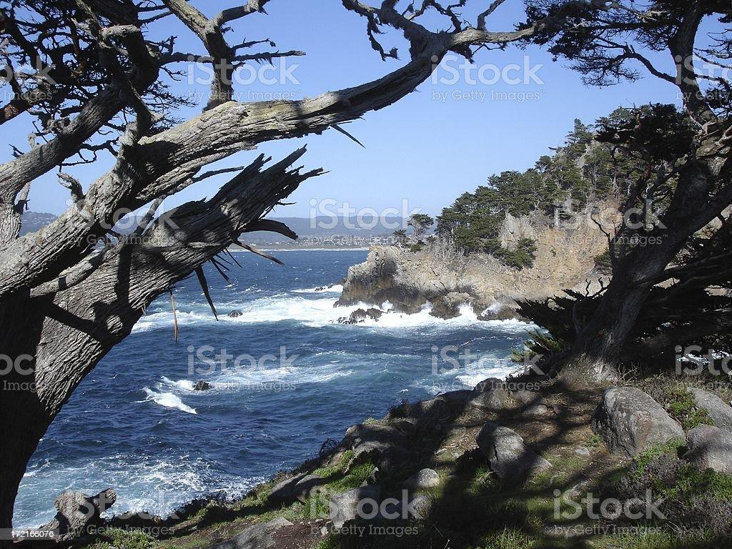 California Coastal scene near Monterey stock photo
