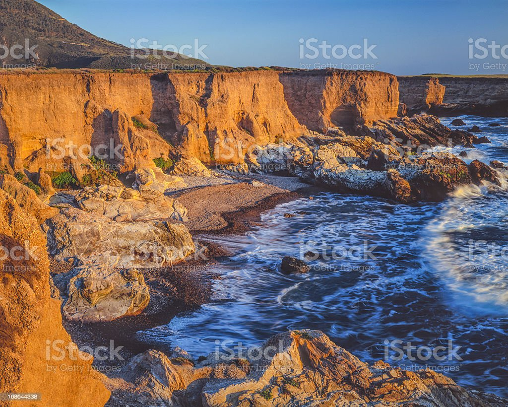 California coastline at Montana De Oro State Park(P) stock photo