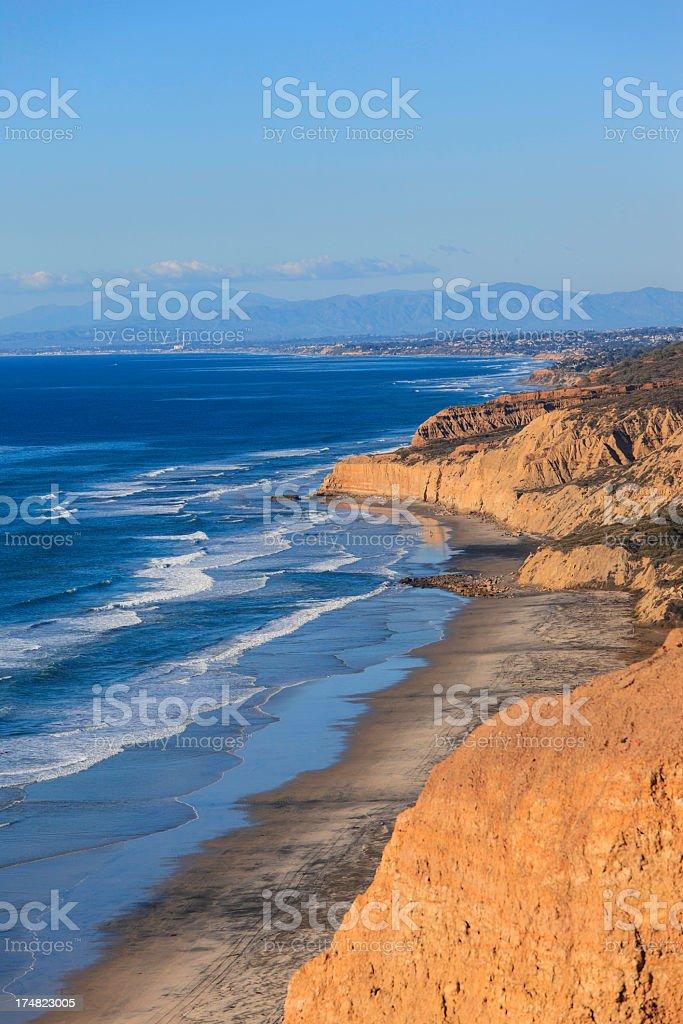 California coastline at Torrey Pines stock photo