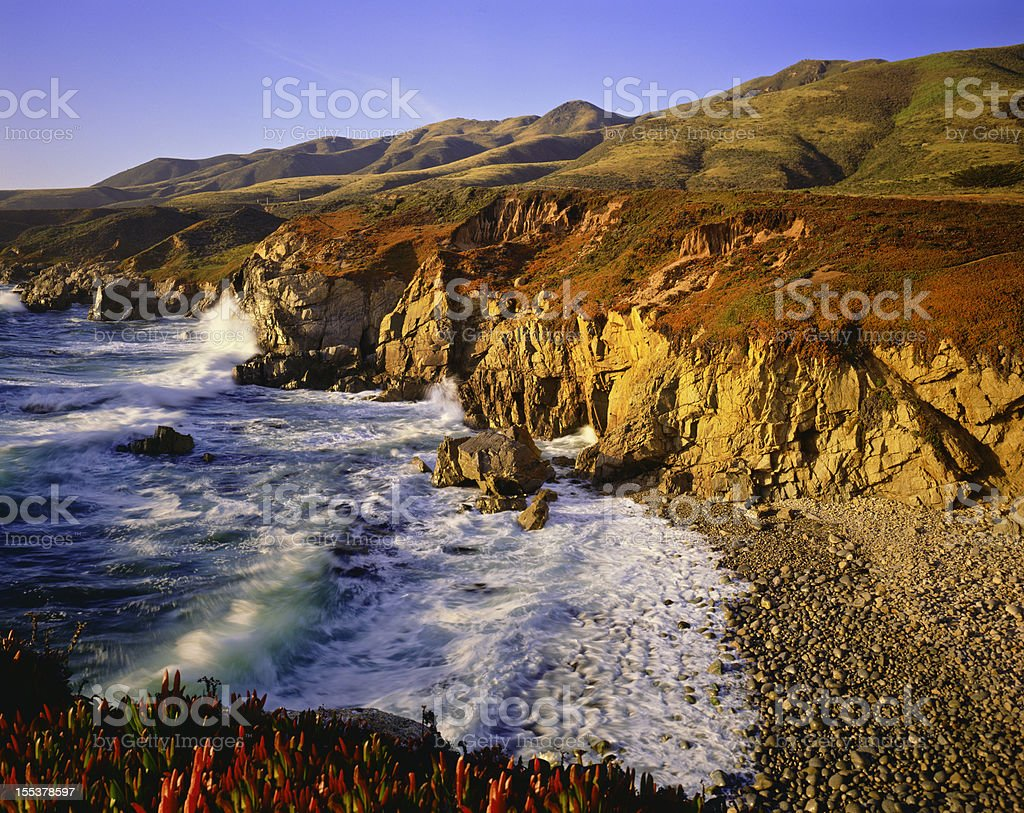 California Coastline  (P) royalty-free stock photo