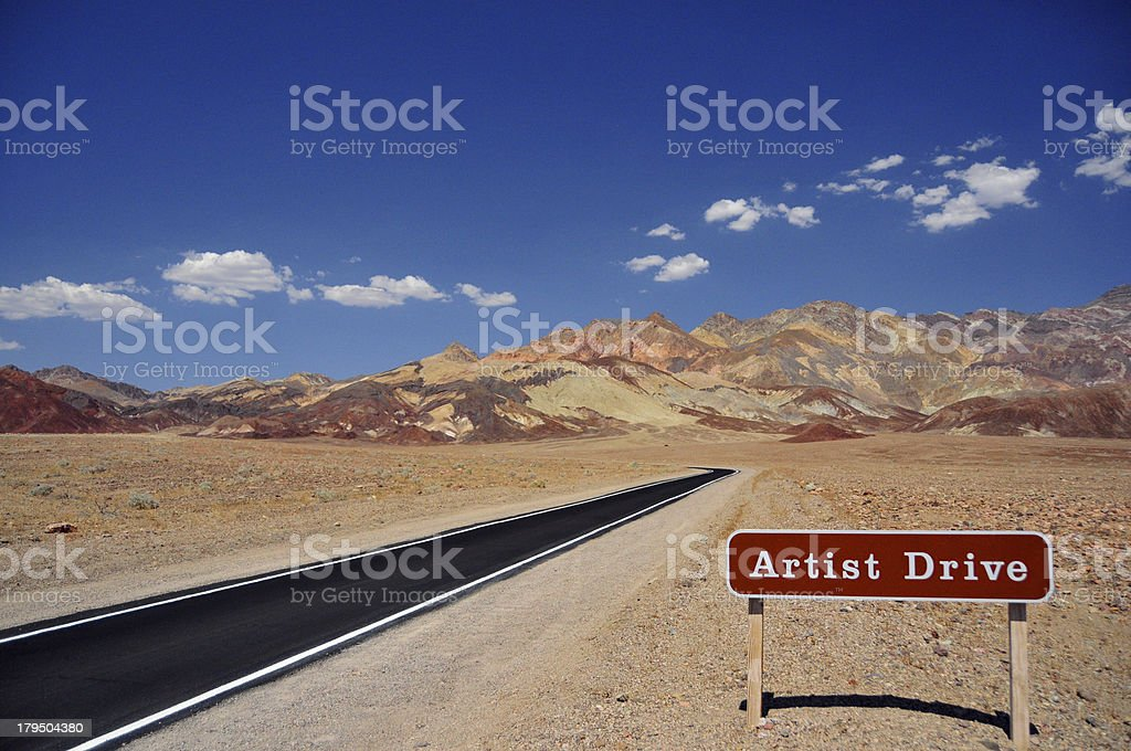 USA, California, Death Valley NP: Artist's Drive stock photo