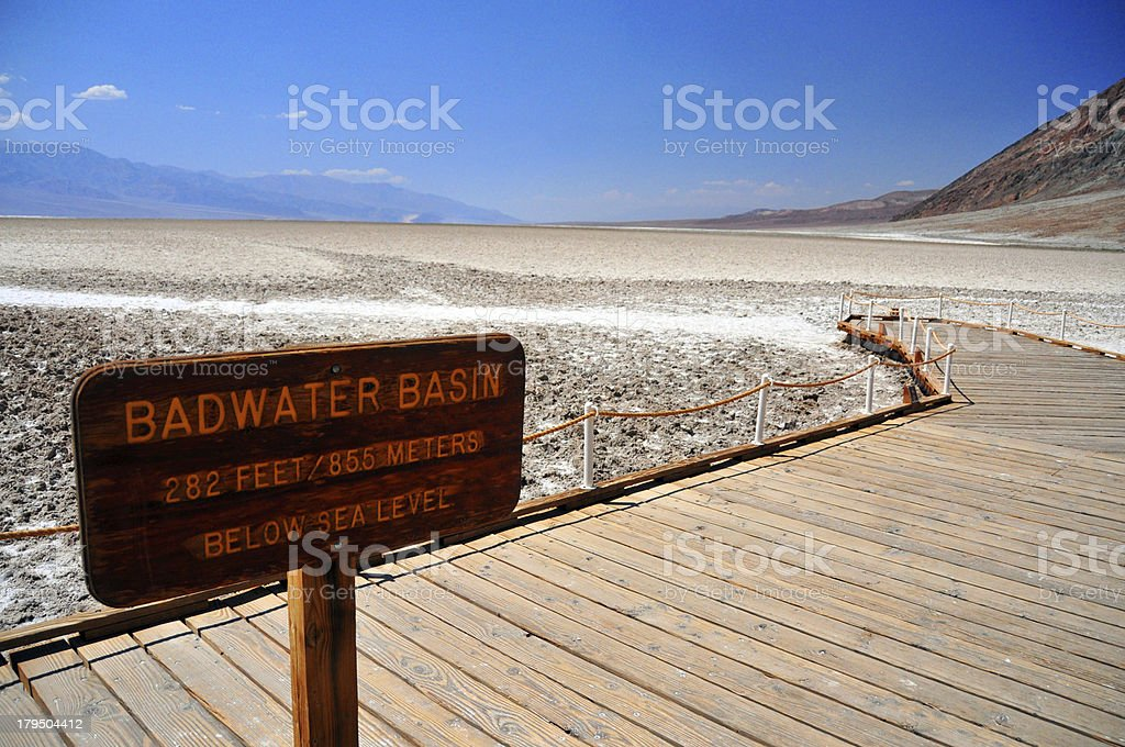 USA, California, Death Valley NP: Badwater Basin royalty-free stock photo