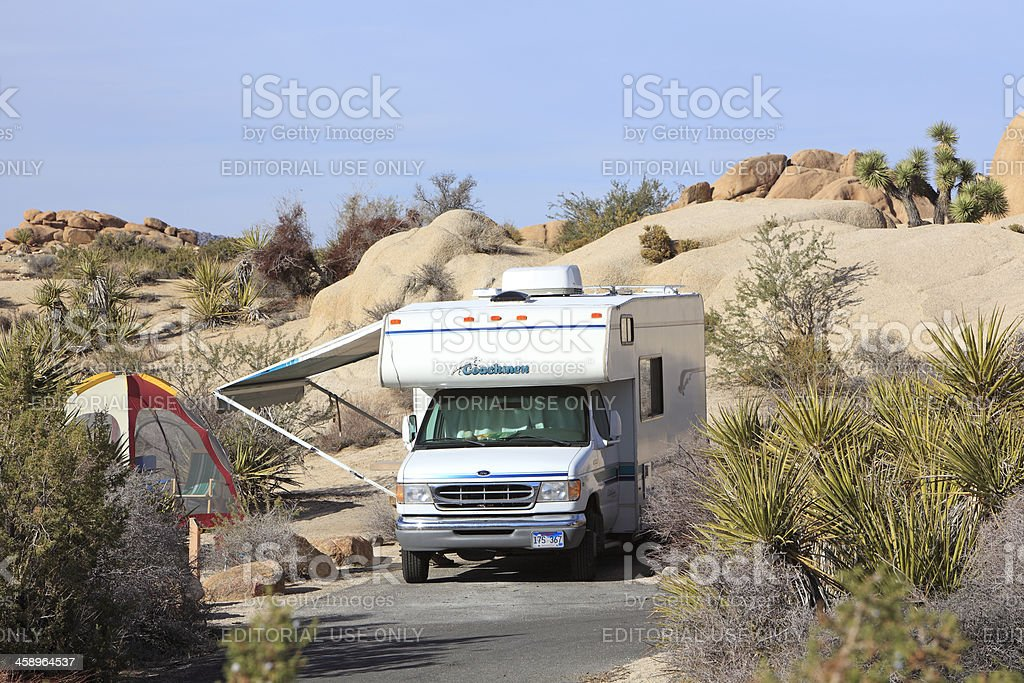 California Desert Camping royalty-free stock photo