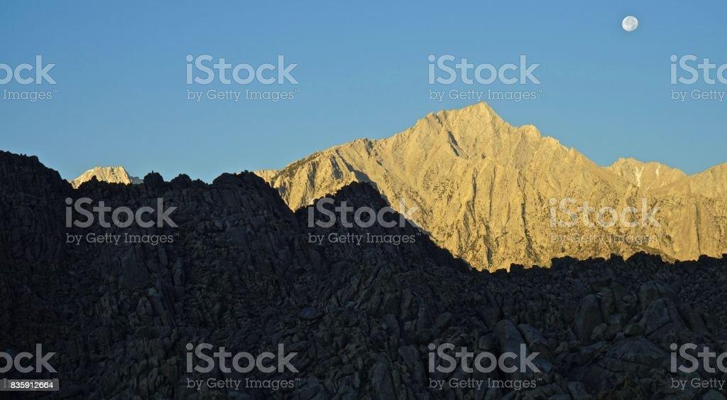 California Desert Moon Rocks stock photo