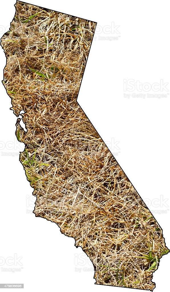 California Drought Brown Grass Best stock photo