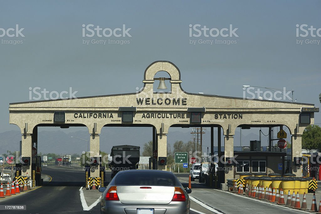 California Entry Station royalty-free stock photo