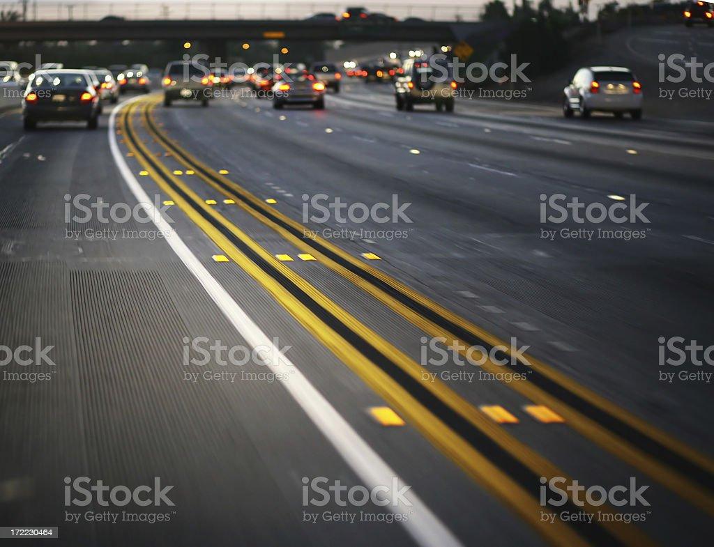 California Evening Traffic stock photo