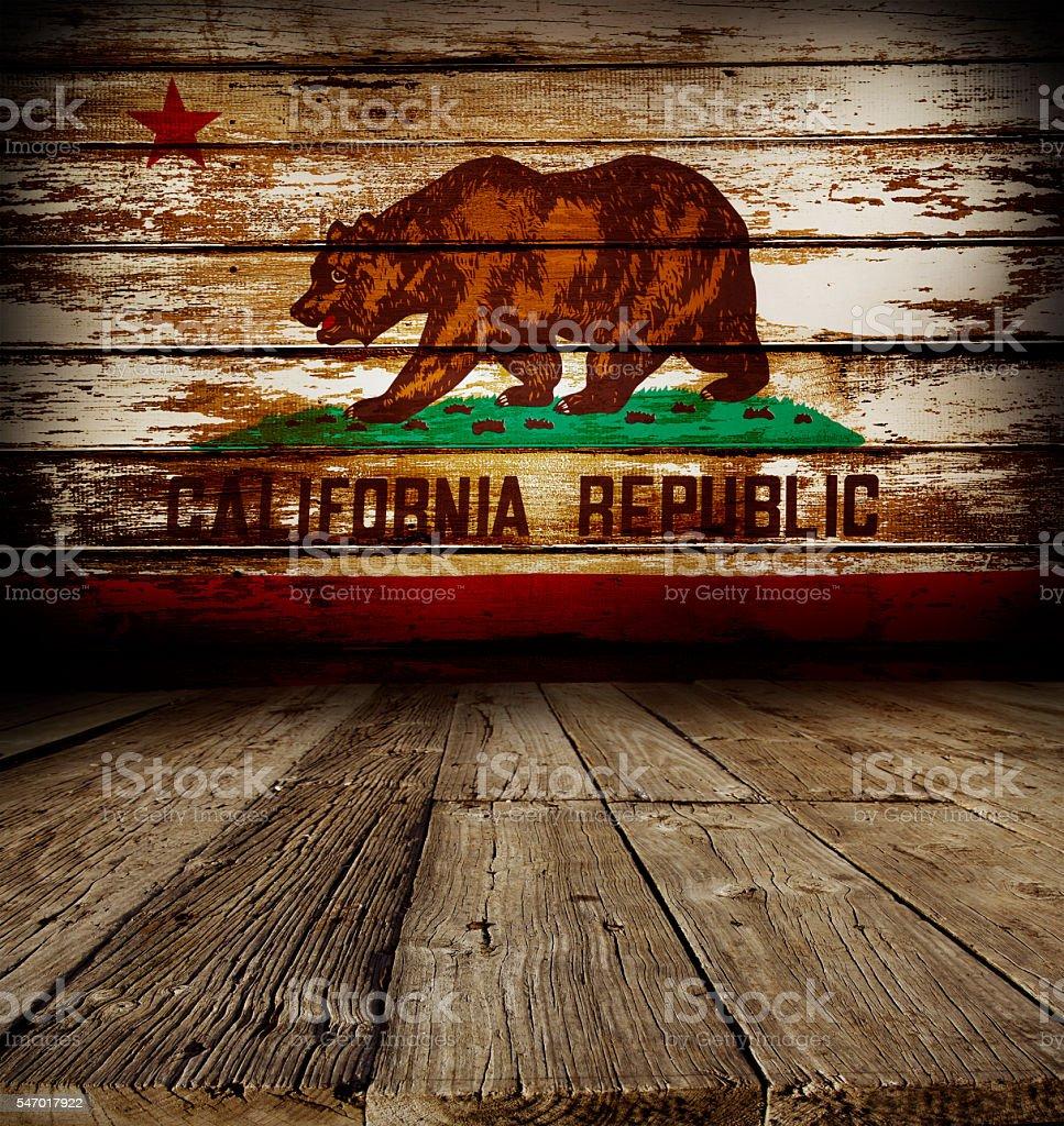 California flag on wall stock photo