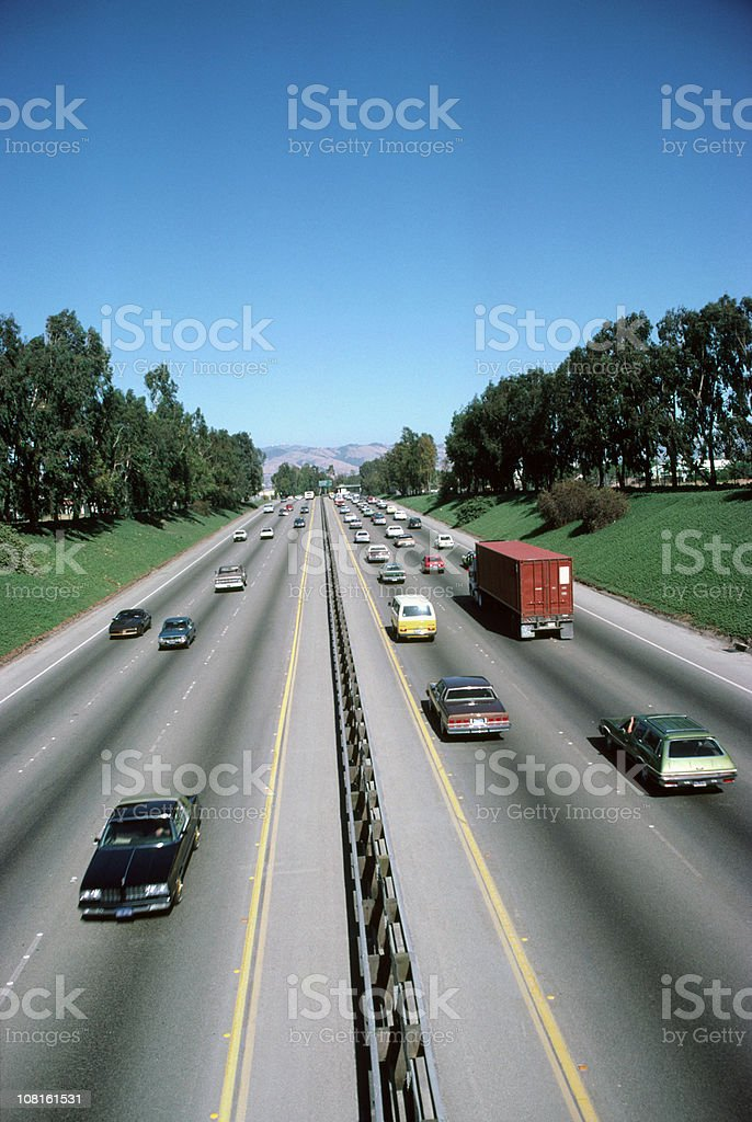 California freeway royalty-free stock photo
