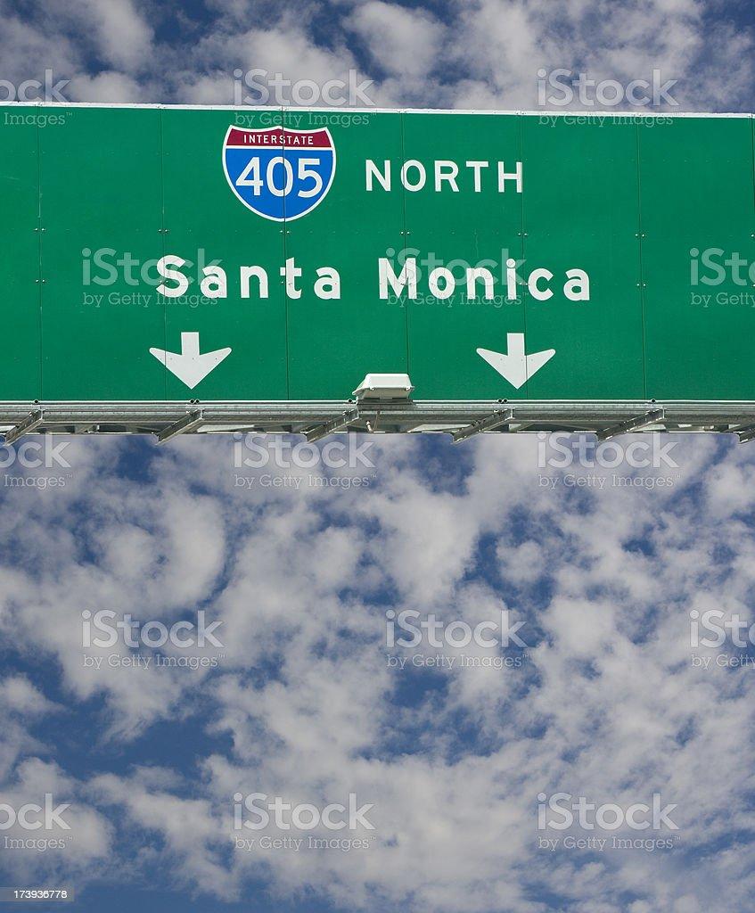 California freeway sign royalty-free stock photo