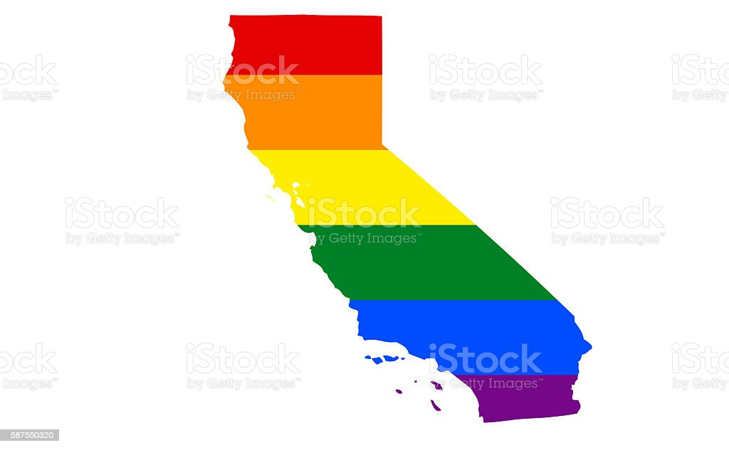 California Gay Pride State stock photo