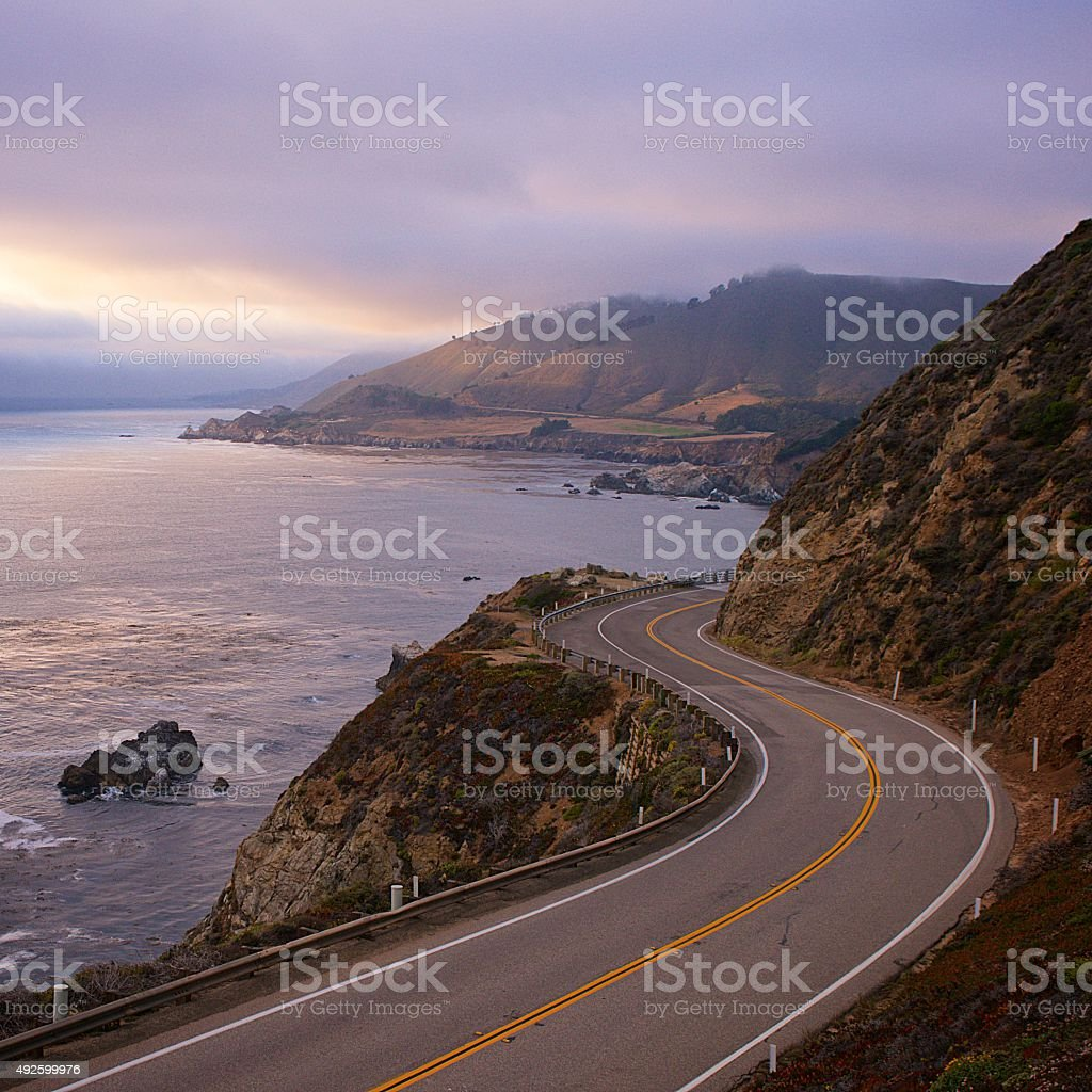California Highway 1 stock photo
