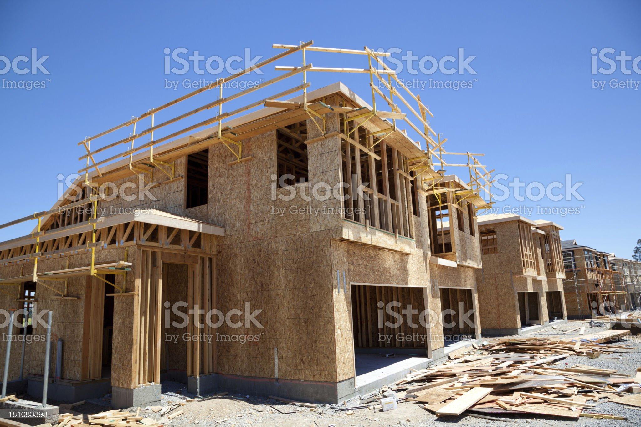 California Homes Under Construction royalty-free stock photo