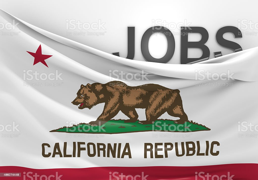 California jobs and employment opportunities concept stock photo