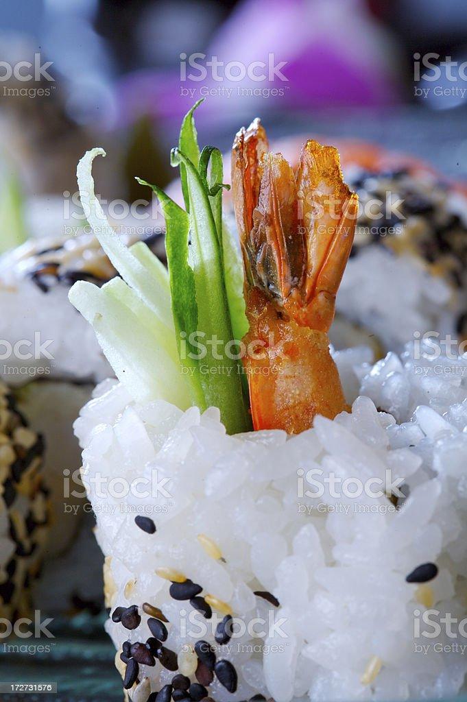California maki with shrimps royalty-free stock photo