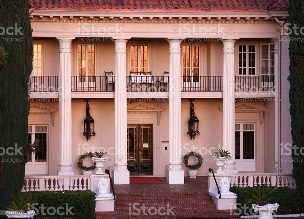 California Mansion at sunset royalty-free stock photo