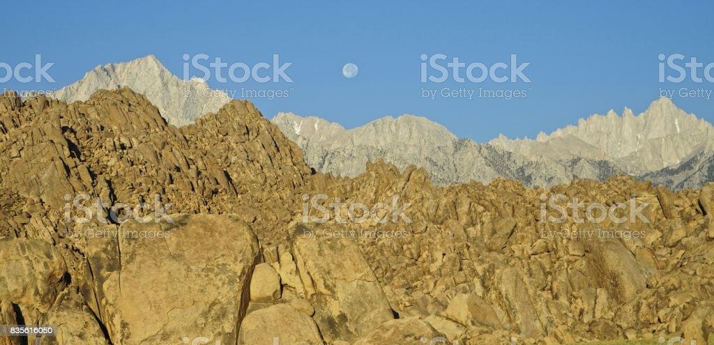 California Moon Rocks stock photo