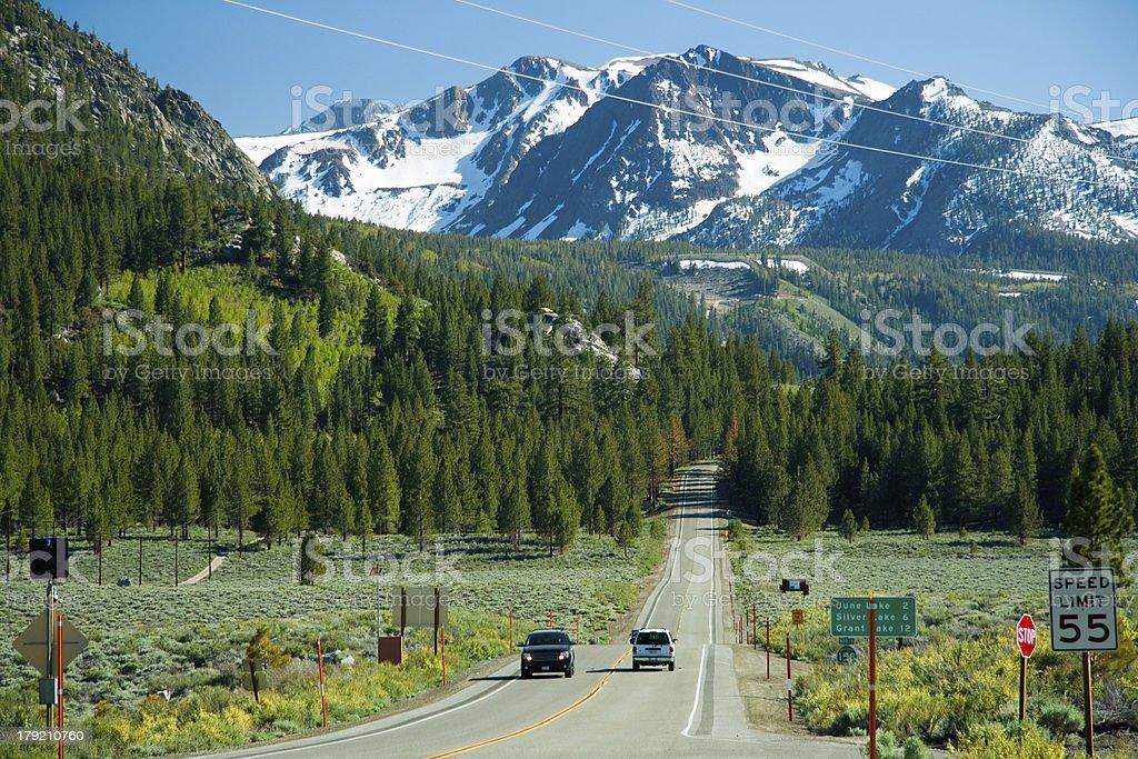 California mountain view royalty-free stock photo