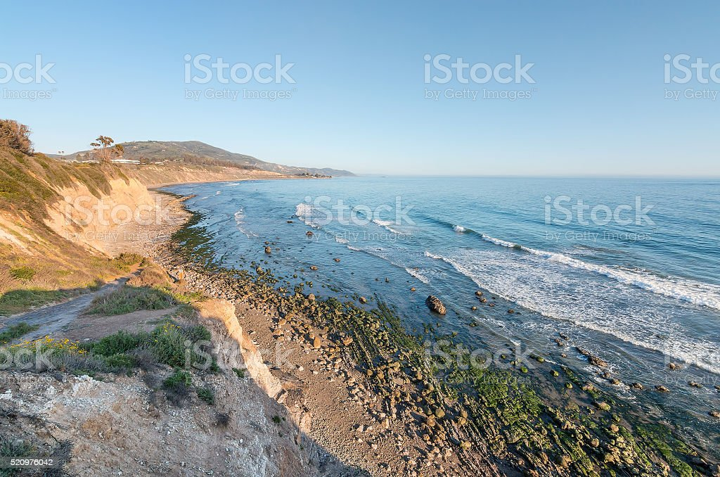 California Ocean Cliffs stock photo