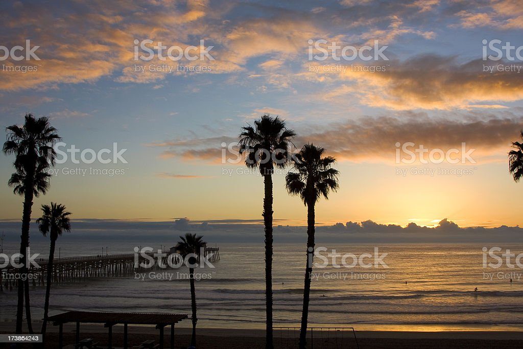 California ocean scenic stock photo