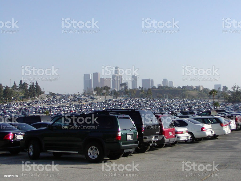 california parking lot stock photo