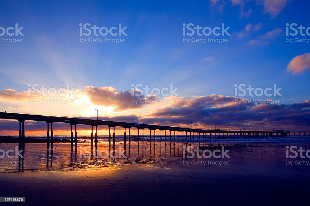 California Pier royalty-free stock photo