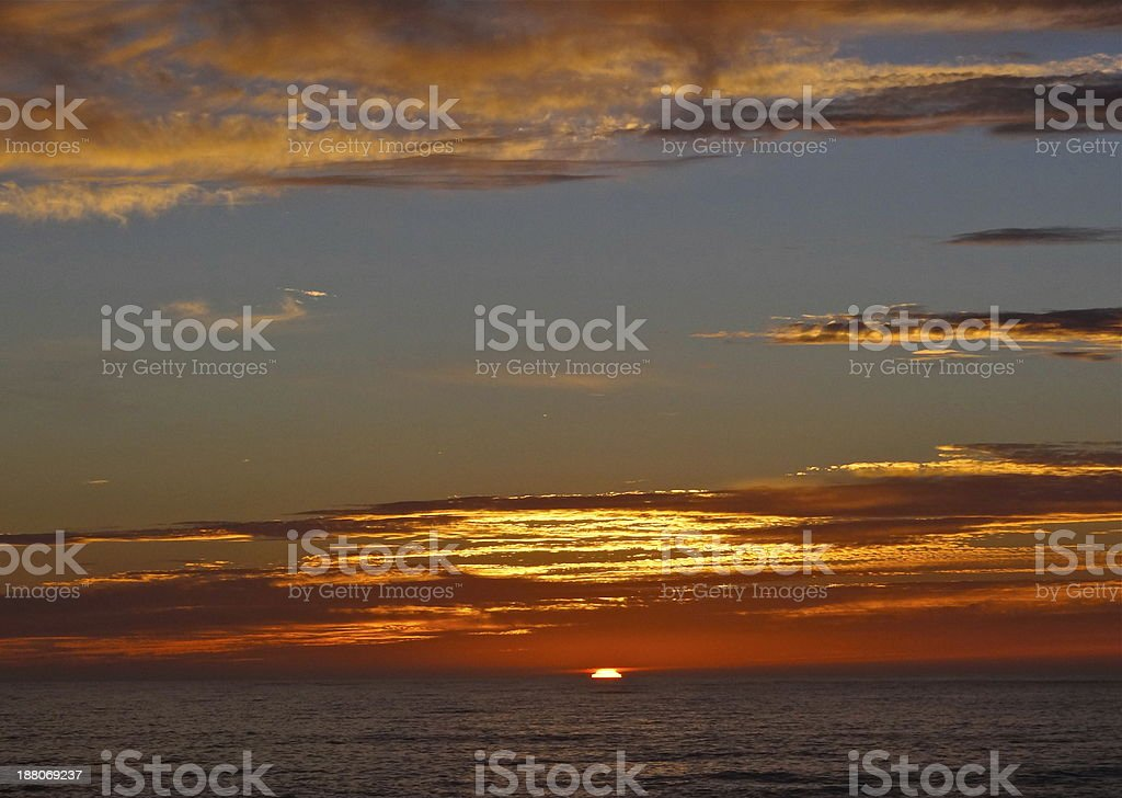 California Radiant Sunset stock photo