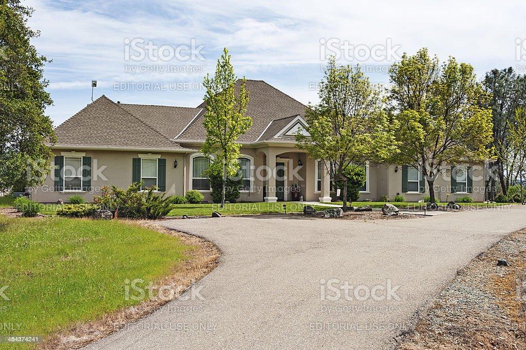 California Ranch Home stock photo