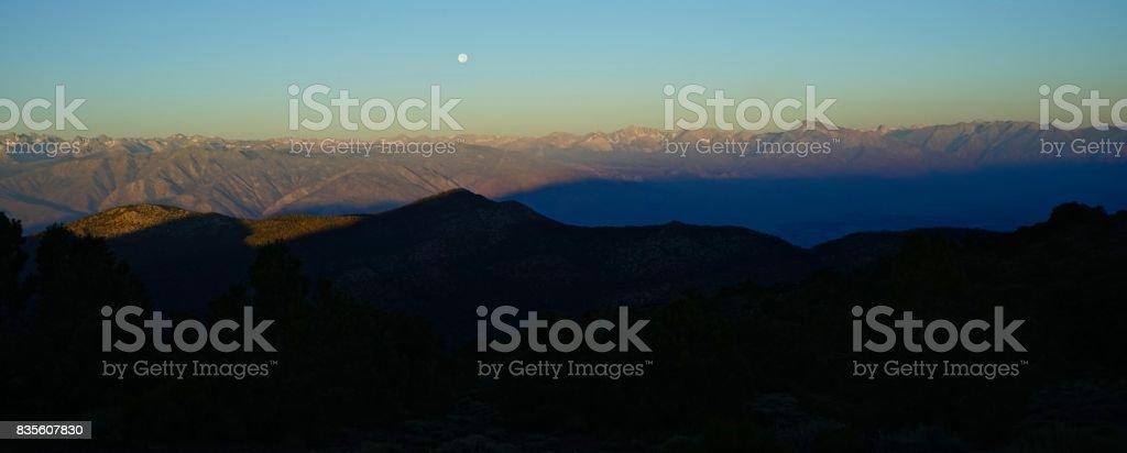 California Range Of Light Moon stock photo
