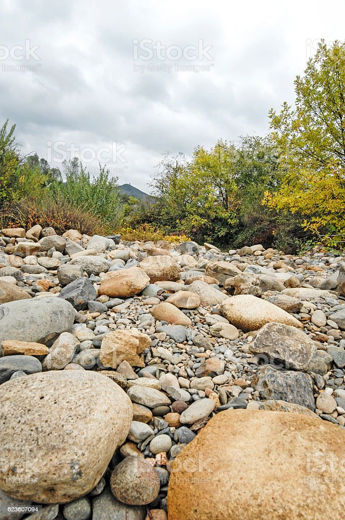 California River Rock stock photo