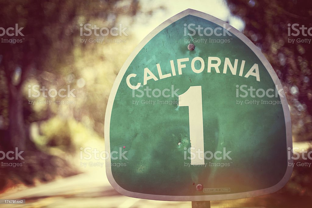California Road Sign stock photo