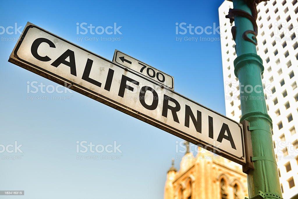California road sign royalty-free stock photo