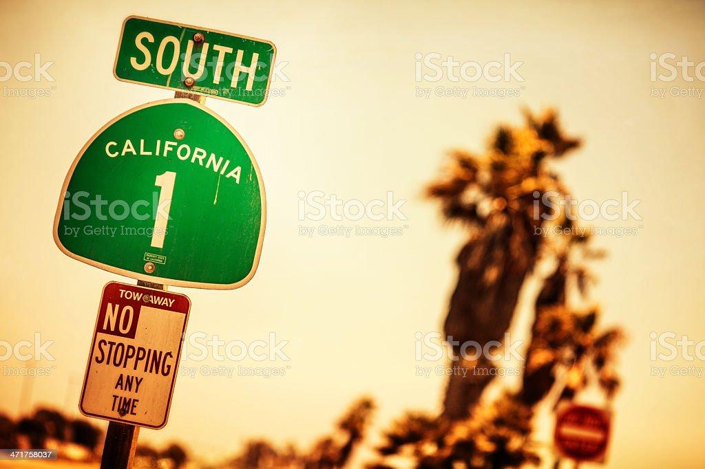California Road Sign stock photo