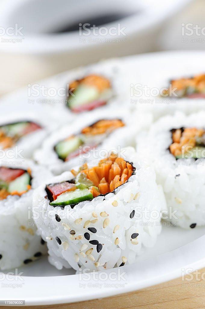California roll sushi stock photo