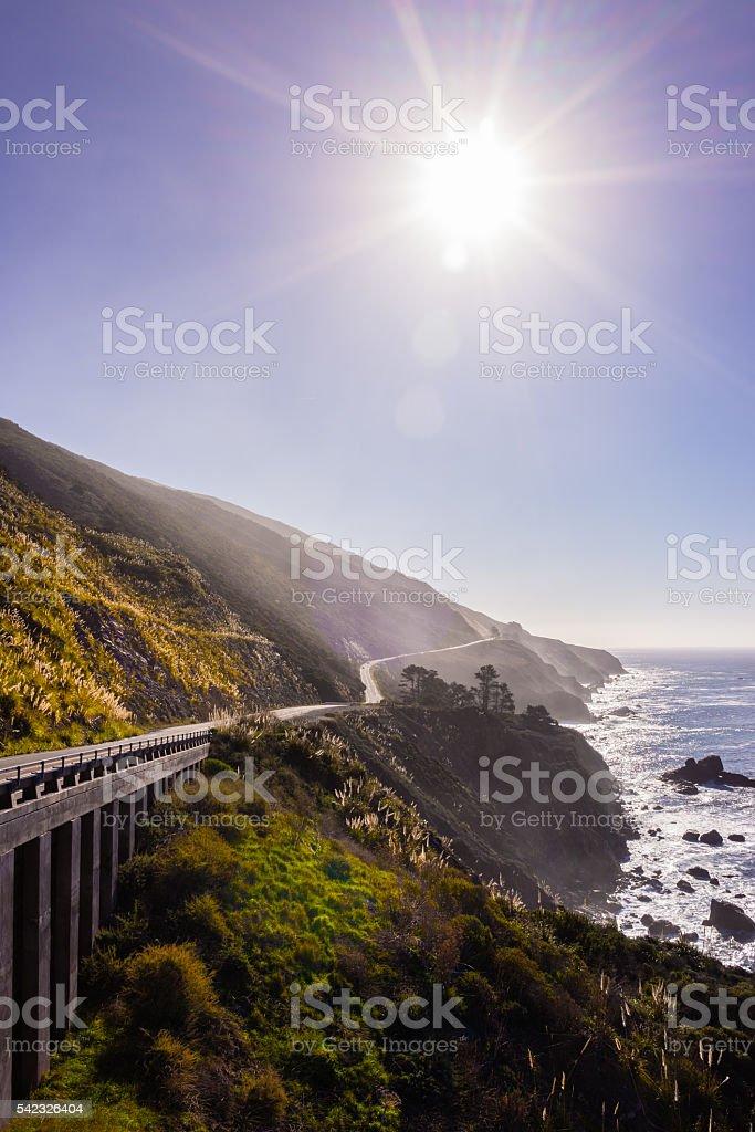 California Route HWY 1 stock photo