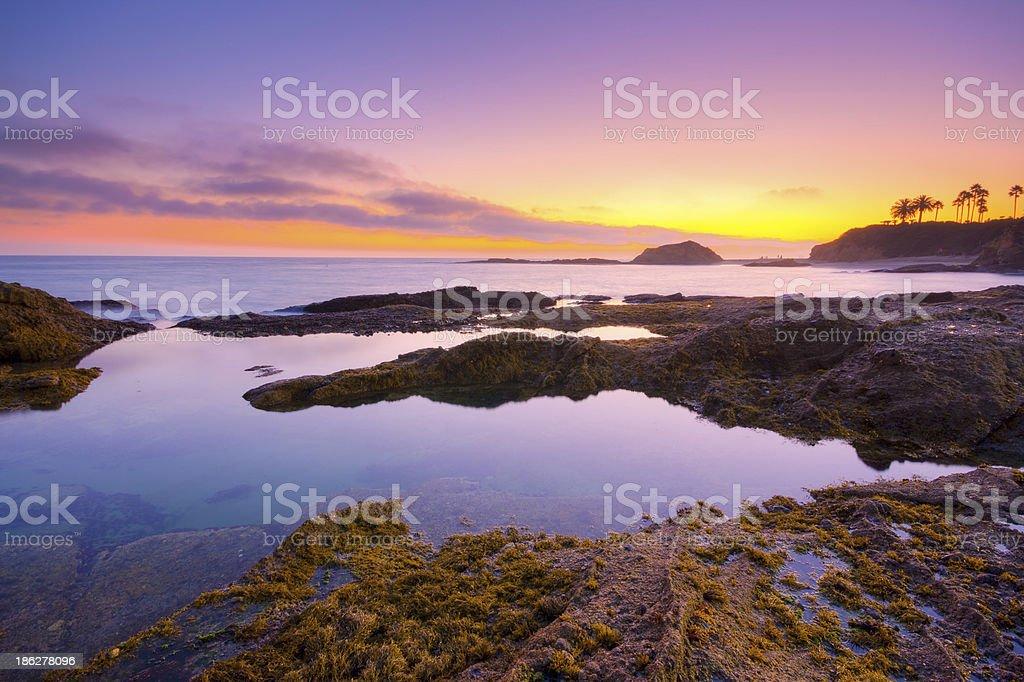 California Seascape - sunset stock photo