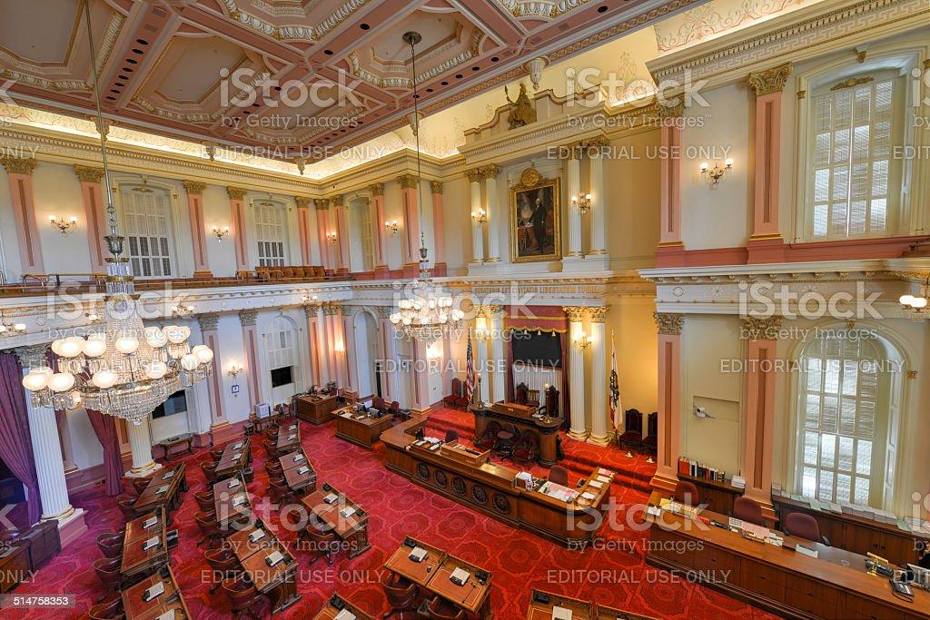 California Senate Chamber stock photo