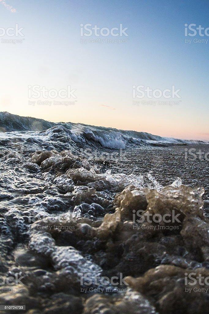 California Shorebreak stock photo