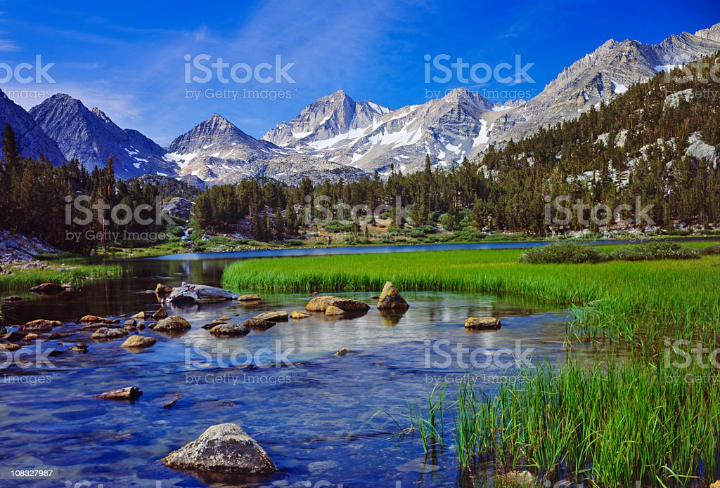 California Sierra Nevada Mountains royalty-free stock photo