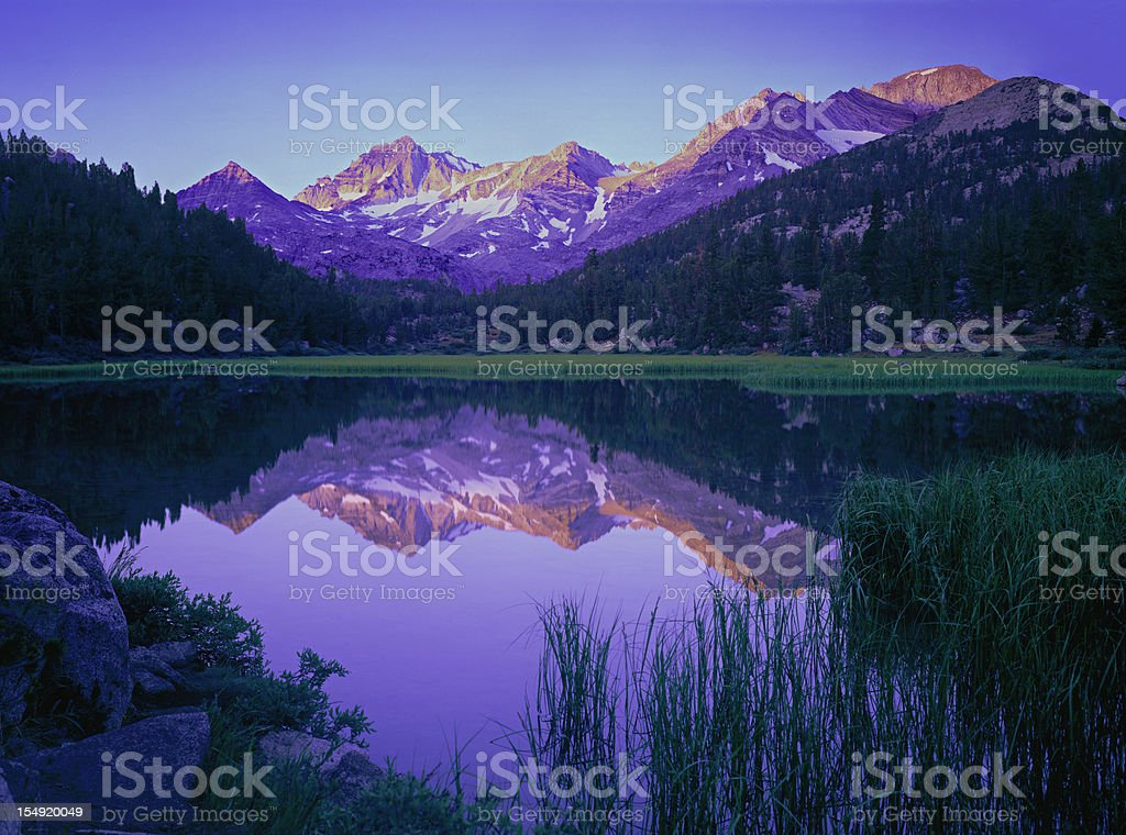 California Sierra Nevada Mountains  (g) stock photo