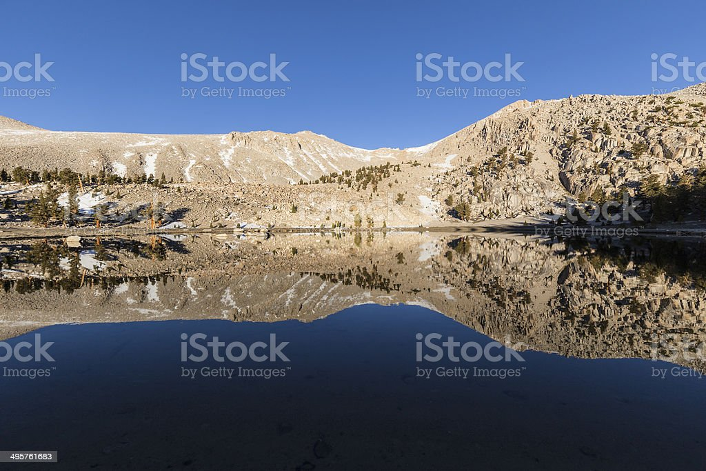 California Sierra Nevada Wilderness Lake Above the Tree Line stock photo