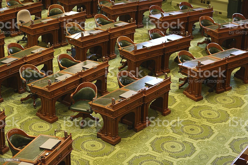 California State Assembly Room royalty-free stock photo