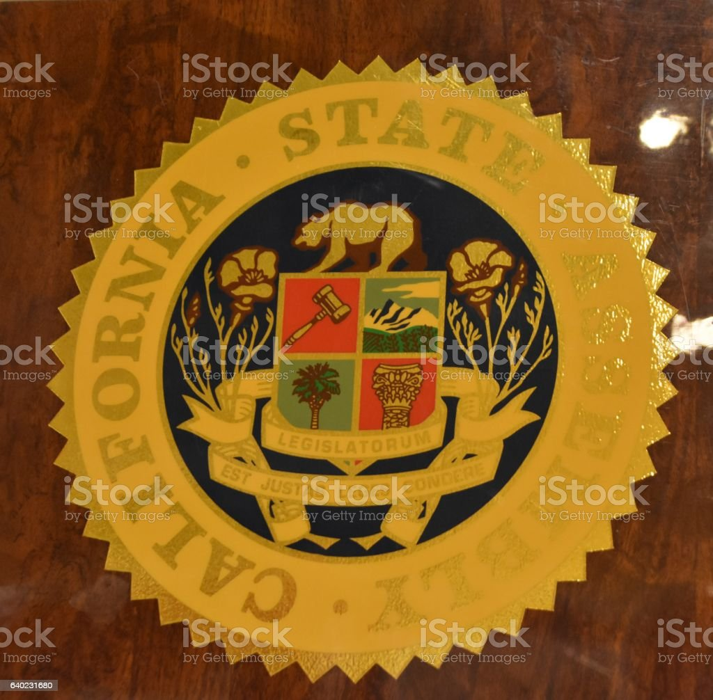 California State Assembly sign vector art illustration
