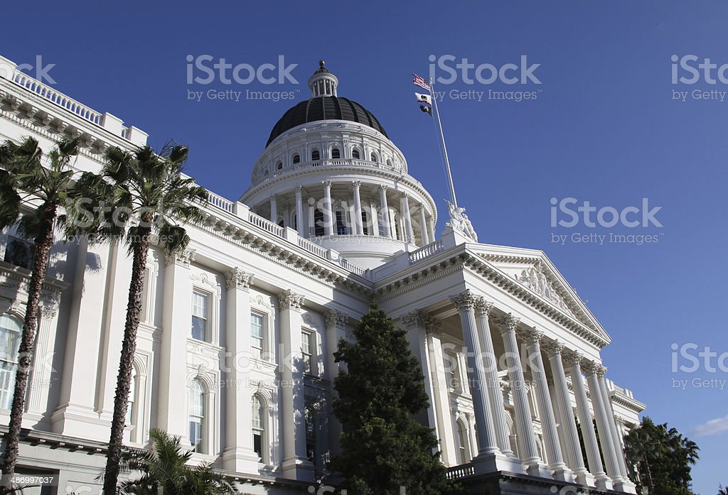 California State Capital in Sacramento stock photo