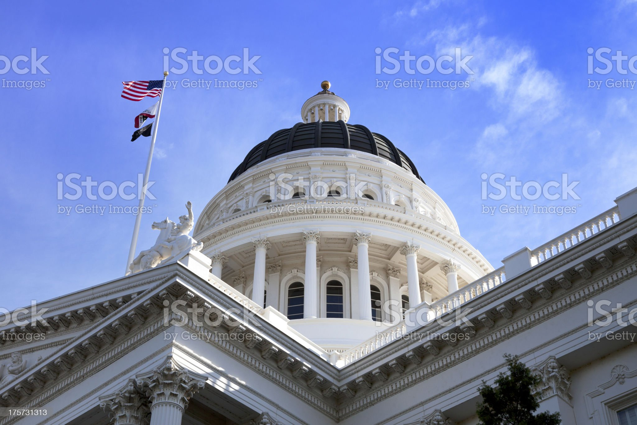 California State Capitol Building close up royalty-free stock photo