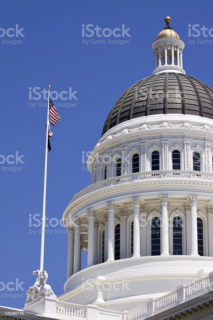 California State Capitol Building Dome stock photo