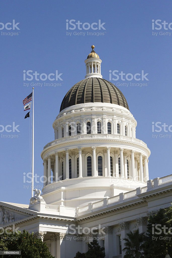 California State Capitol Building Dome royalty-free stock photo