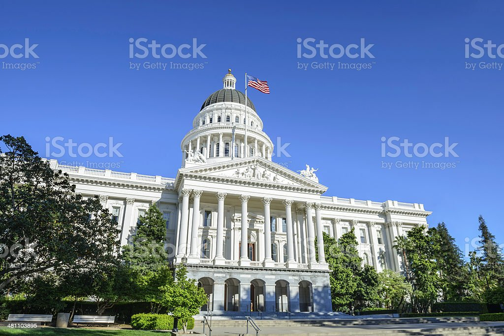 California State Capitol Building in Sacramento, CA, USA stock photo